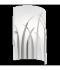Eglo 92742 Rıvato Desenli Beyaz Cam Aplik 92742