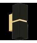 Eglo 95373 Passa 2'Li Siyah Altın Kare Led Aplik 95373