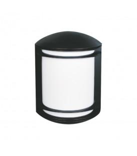 Yarım Silindir Model Alüminyum Enjeksiyon Döküm Aplik , Siyah Renk