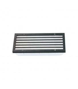 Sıva Altı Panjurlu Model Alüminyum Enjeksiyon Döküm Armatür , Siyah Renk