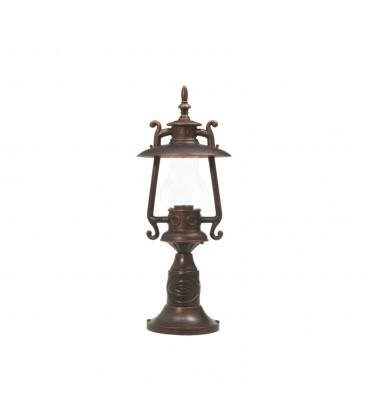 Gaz Lambası Set Üstü Model Alüminyum Enjeksiyon Döküm Fener , Antik Bronz
