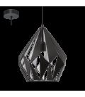Eglo 49255 Carlton 1 Tekli Metal Sarkıt Siyah Gümüş 49255