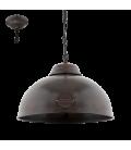 Eglo 49632 Truro Tekli Metal Sarkıt Antik Kahve 49632