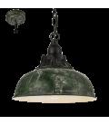 Eglo 49735 Grantham Tekli Metal Sarkıt Antik Yeşil 49735