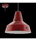Eglo 49748 Somerton Tekli Metal Sarkıt Kırmızı 49748