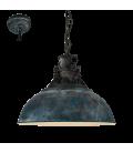 Eglo 49753 Grantham Metal Sarkıt Antik Mavi 49753
