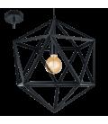 Eglo 49762 Embleton Metal Kafesli Sarkıt Siyah 49762