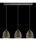 Eglo 49871 Safı 3'Lü Metal Sarkıt Antik 49871