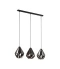 Eglo 49991 Carlton 3'Lü Metal Sarkıt Siyah 49991