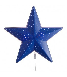 SMILA duvar lambası, mavi, 28 cm