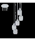 Eglo 94898 Bonares 5'Li Kristal Sarkıt Avize 94898