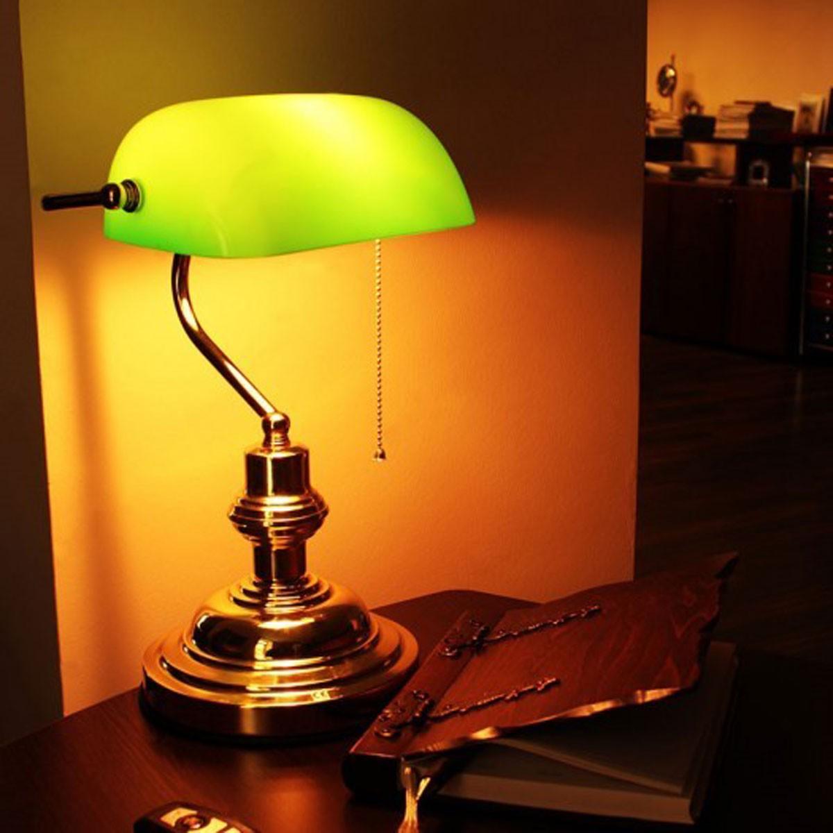 Banker Masa Lambası Kampanyalı Orjinal Yeşil Camlı